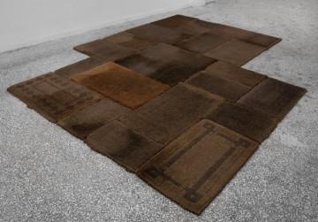 Eftihis Patsourakis Skin #3, 2011 Exchanged sisal door mats from Athens, 21 pieces 363 x 292 cm (total dimension)