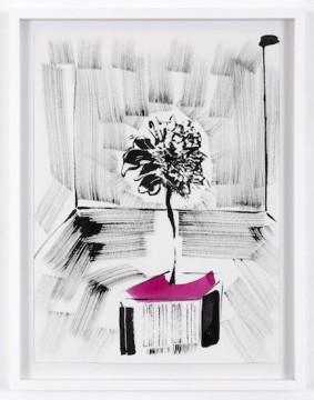 Strange Sonnenblume, 2018 Japanese ink on paper 55 x 43 cm