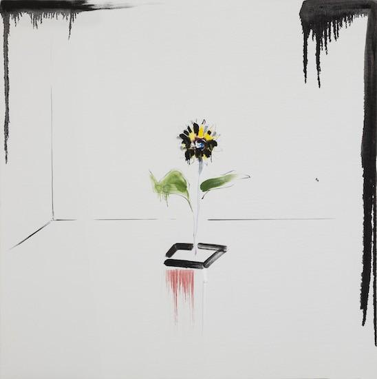 Wallpaper, 2018, Oil on canvas, 130 x 130 cm