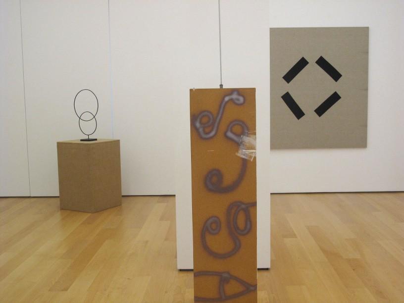 Keith Coventry, Isa Genzken, Sergej Jensen, Installation view