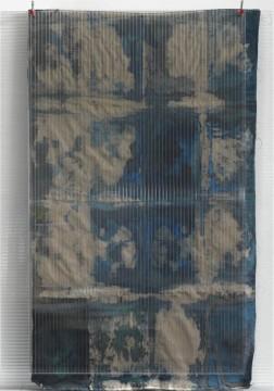 Christina Michalis, Untitled, 2010, Watercolour, pigment on canvas, polycarbonate, 210 x 150 cm