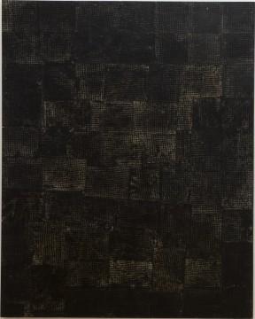 Lila Polenaki, Untitled, 1997, Oil, paper, textile on canvas, 160 x 200 cm