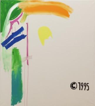 Michel Majerus, Mom Block Nr. 39, 1999 Acrylic on canvas, 200 x 180 cm
