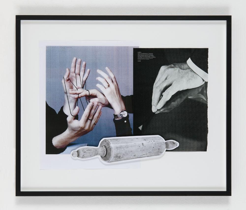Helmut Middendorf, Politics, (Nudelholz), 2015 Collage, 38 x 49.5 cm