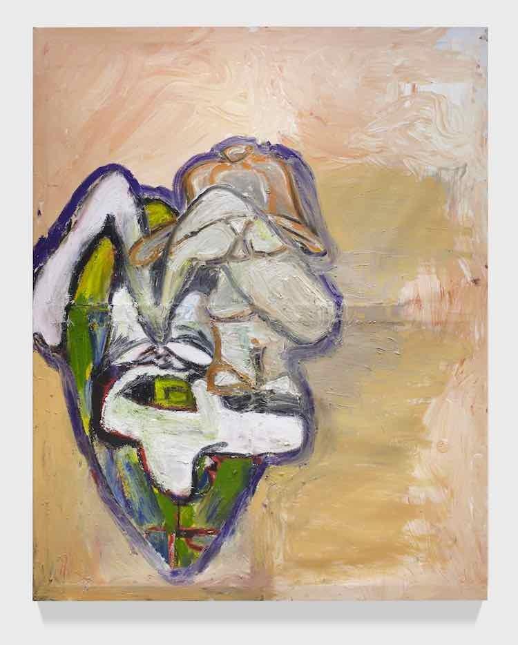 Andy's Heavy Boy, 2018, Acrylic and oil on canvas, 216 x 170 cm