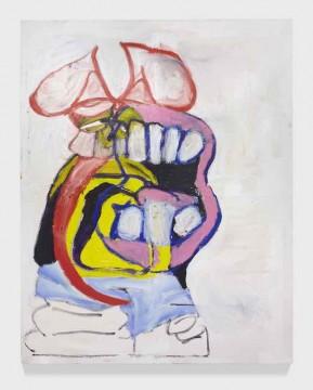 Lip Service, 2018, Acrylic and oil on canvas, 217 x 174 cm