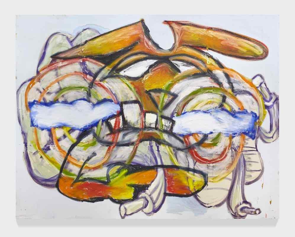 Minion Advancement, 2018, Acrylic and oil on canvas, 183 x 244 cm