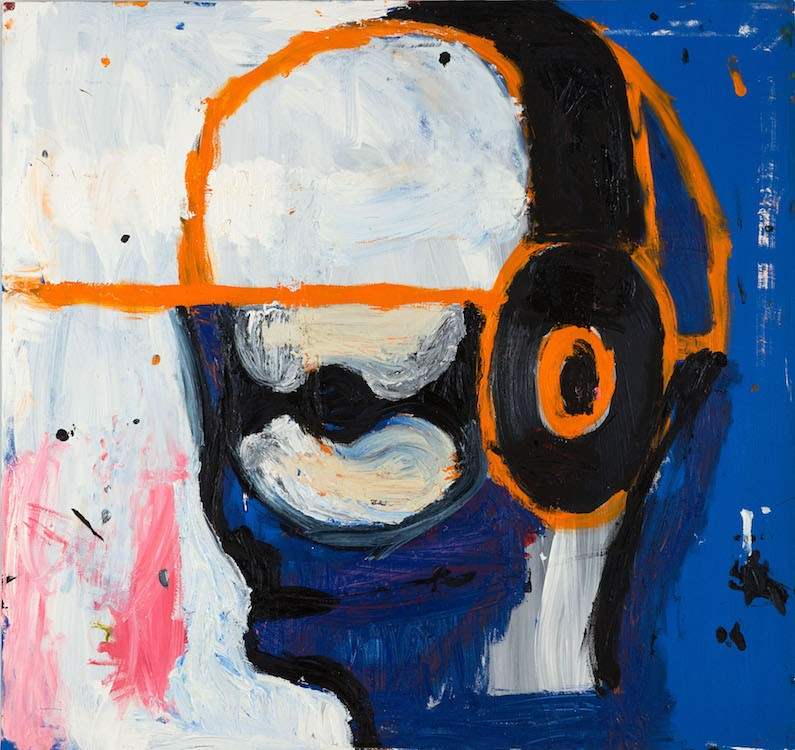 Gerasimos Floratos, Untitled, 2021, Oil and acrylic on canvas, 122 x 122 cm