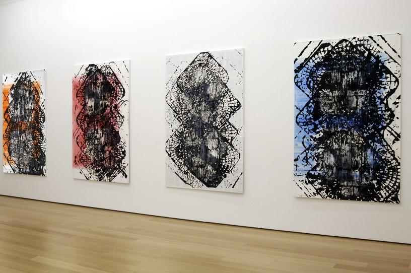 The Seasons (Time-tower), 2011 Acrylic on canvas, 200 x 130 cm each