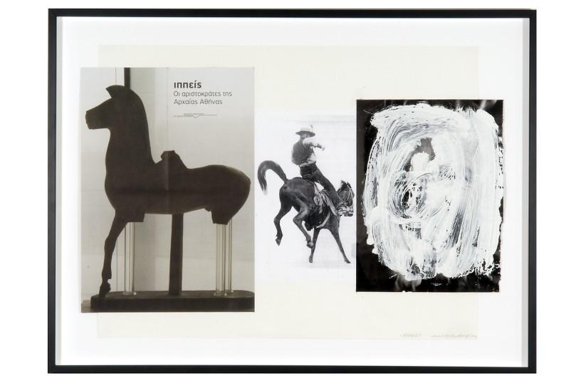 Greek Rodeo, 2010 Collage, 49 x 71 cm