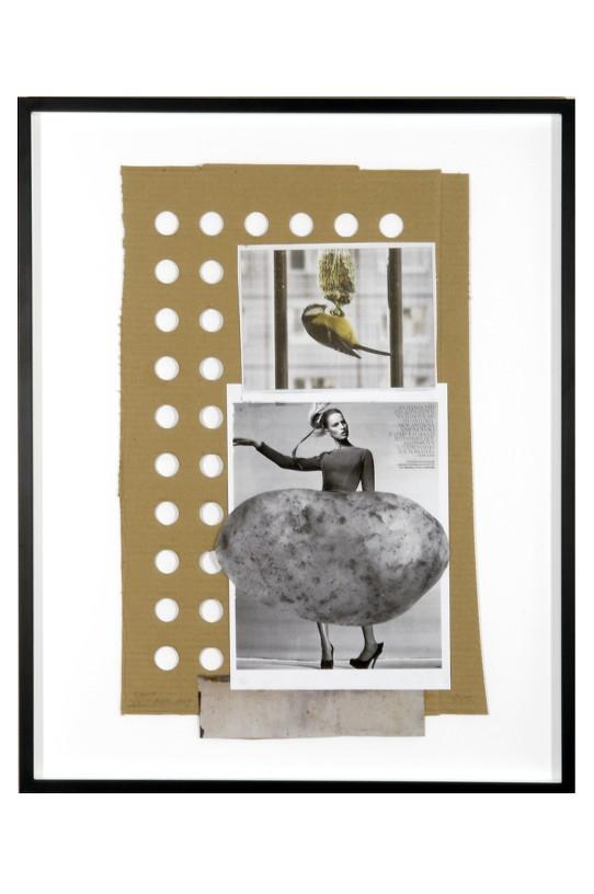 Untitled (Potato), 2010 Collage, 55 x 34 cm