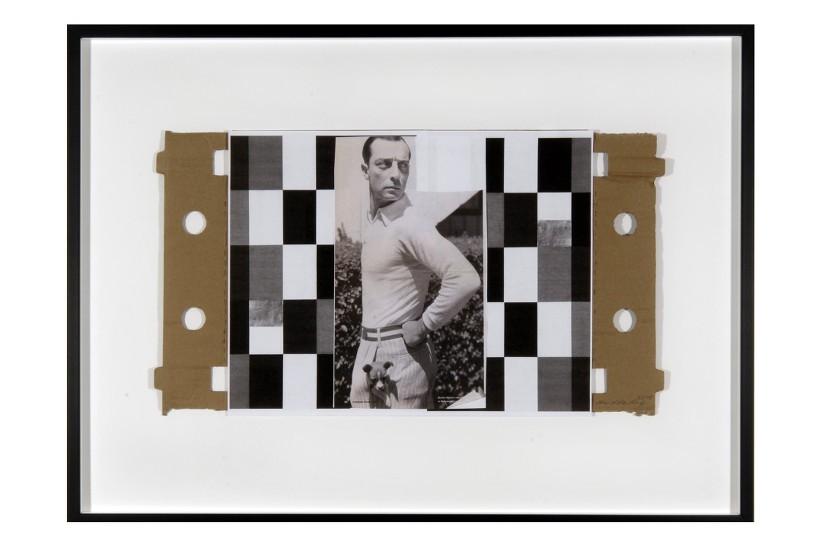 B.K., 2010 Collage, 30 x 54 cm