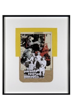 Untitled (Fucked you up), 2010 Collage, 43 x 34 cm