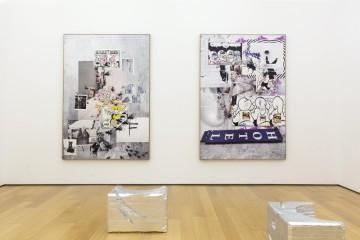 Installation view: Lito Kattou (front), Olga Migliaressi-Phoca (back)