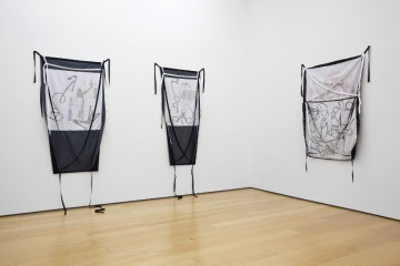 Yorgos Sapountzis, Lost timeline, 2013, Print on fabric, pins, Dimensions variable