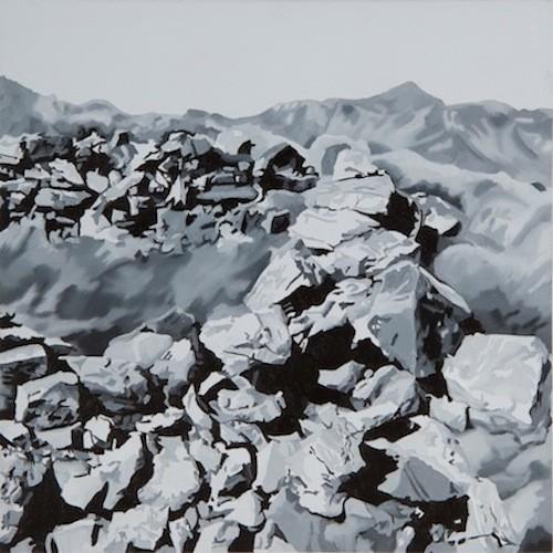 Kiafa, 2013-2014 (detail), Οil and acrylic on panel, 20x20 cm