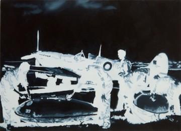 Untitled (Hellbird), 2014 (detail), Οil and acrylic on panel, 18x25 cm