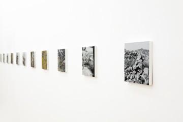 Kiafa, 2013-2014 (detail), Οil and acrylic on 14 panels 20x20 cm (each panel)