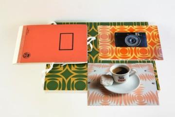 Artifacts (For the Revolution), 2013 (detail), Αrchival ink jet prints, folio, shelf  15x21 cm (each print)