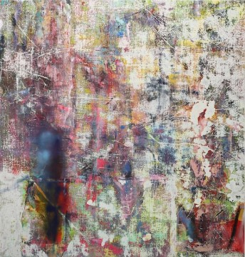 Untitled (Feni), 2015, Acrylic, enamel, alcohol, and salt on oil primed linen, 198.1 x 190.5 cm (78 x 75 in)