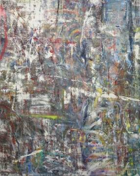 Untitled (Brahmanbaria), 2015, Acrylic, enamel, alcohol, and salt on oil primed linen, 246.4 x 195.6 cm (97 x 77 in)