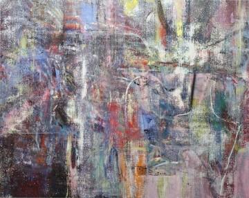 Untitled (Akhaura), 2015, Acrylic, enamel, alcohol, and salt on oil primed linen, 195.6 x 246.4 cm (77 x 97 in)