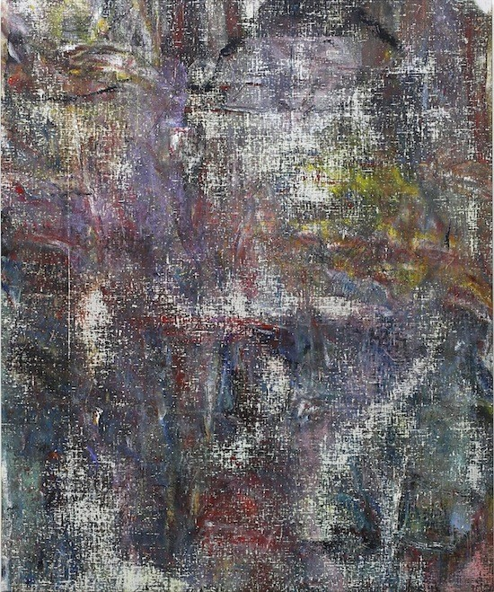 Untitled (Rangamati), 2015, Acrylic, enamel, alcohol, and salt on oil primed linen, 162.6 x 134.6 cm (64 x 53 in)