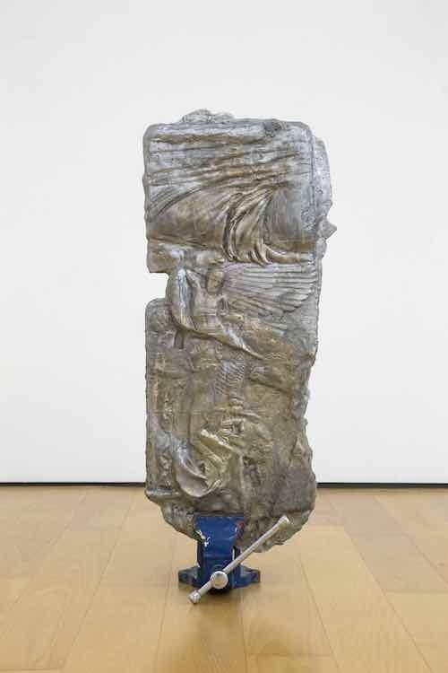 Rite of Passage, 2018, Aluminium, metalworking vise, 90 x 36 x 5 cm