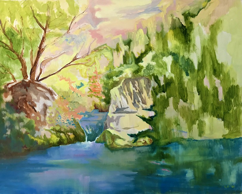 I overlooked the moment (Waterfall), 2009, Oil on canvas, 80 x 100 cm