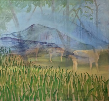 I could believe anything new (The goats), 2010, Oil on canvas, 121 x 131 cm
