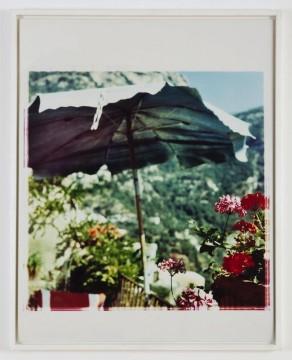 Jack Pierson, Blue Umbrella, Casa Sam,1996, C-print, 38 x 30 in, Edition 2/10