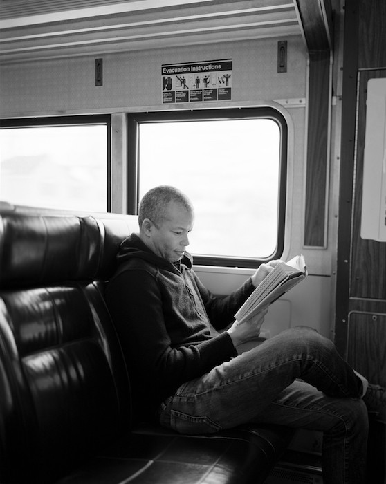 Michael Queenland reading 3.01: The Totality of True Thoughts Is a Picture of the World., 2015, Gelatin silver print, 20.3 x 25.4 cm, Ed. of 5
